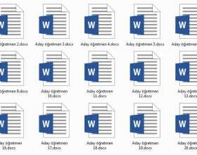 Aday Öğretmen Haftalık Dosya Kapaklari