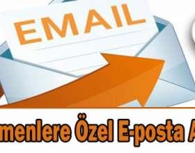 Öğretmene Özel E-Posta Adresi